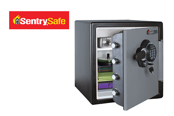 Sentry Safe digital safe box with key, water, fire proof & security